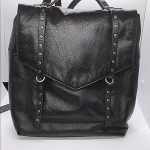 Lucky brand black leather backpack
